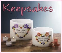 Personalized Floral Memorial Candles
